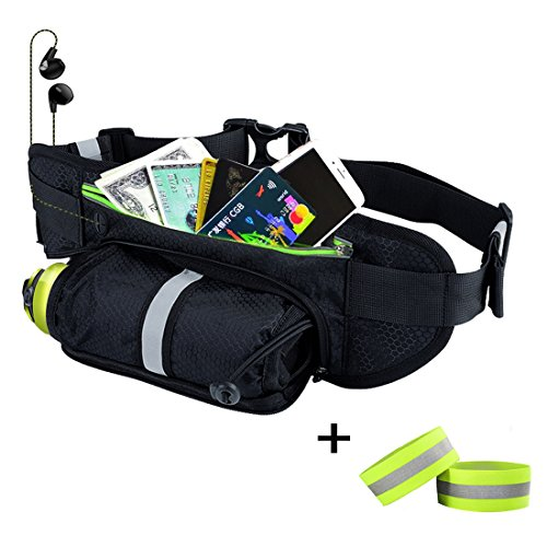 GRULLIN Outdoor Sports Hydration Fanny Pack,Running Belt Bla