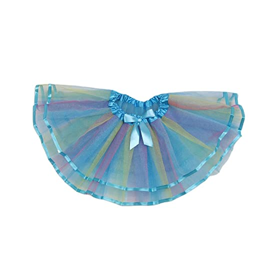 Viviana 3-10T Falda Tutú De Color Arco Iris Para Niñas Pequeñas ...