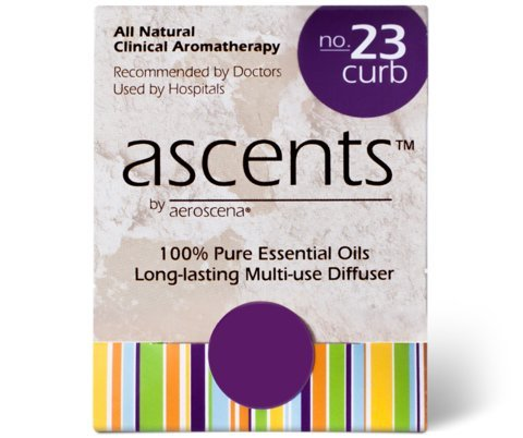 Ascents Curb No. 23 Personal Aromatherapy Inhaler for Appetite Control & Weight Loss: Essential Oils of Grapefruit and Peppermint; Discreet, Portable Suppression of Cravings
