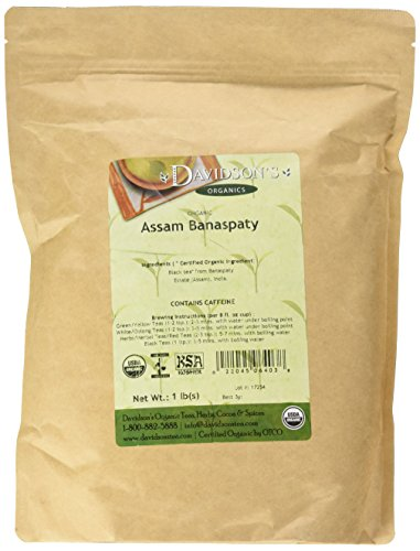 Davidson's Tea Bulk, Organic Assam Banaspaty Estate Tea 1 Pound Bag ()