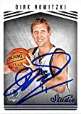 Dirk Nowitzki autographed basketball card (Dallas Mavericks) 2017 Studio #127