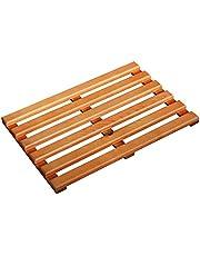 LiRen-Shop JinQi Natural Wooden bath shower mat used in Bathroom,rectangular duckboard