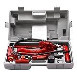 Super Deal 4 Ton Auto Shop Heavy Duty, Hydraulic Bottle Jack, Air Pump Lift Porta Power Ram Repair Tool Kit Set