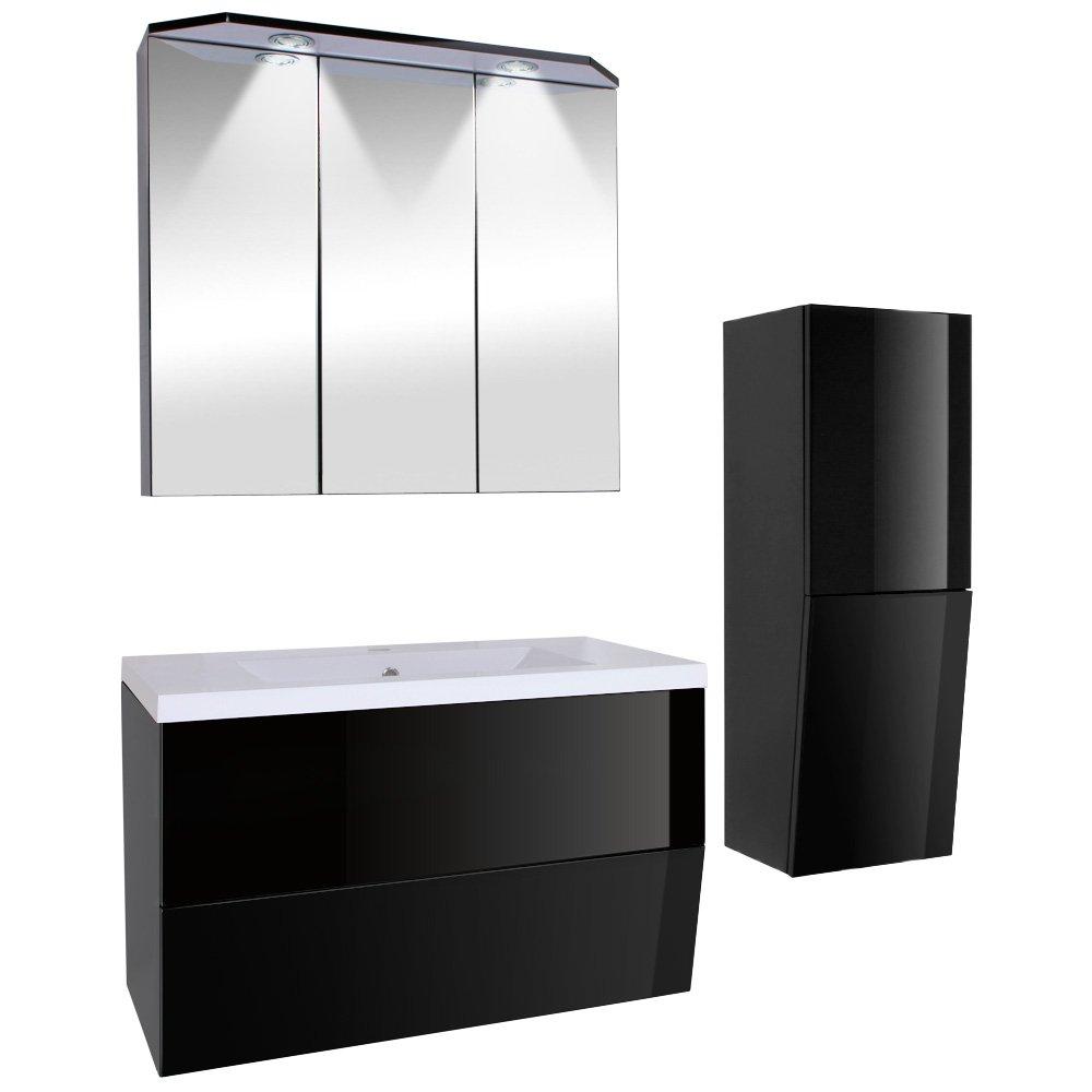 Beeindruckend Badezimmermöbel Günstig Galerie Von 3-teiliges Badezimmermöbel-set Inkl. Waschbecken, Spiegelschrank, Unterschrank Und