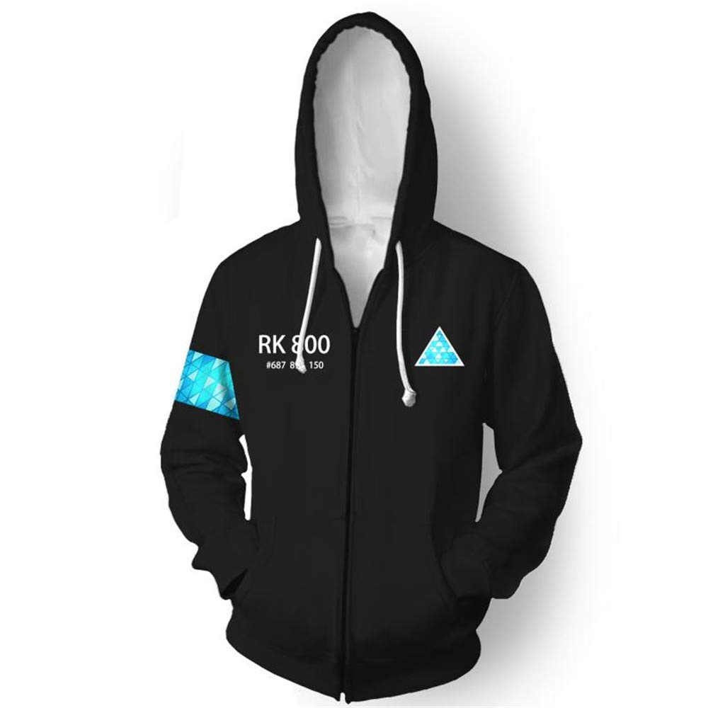 VOSTE Become Human Hoodie 3D Printed Hooded Pullover Sweatshirt (Medium, Color 11)