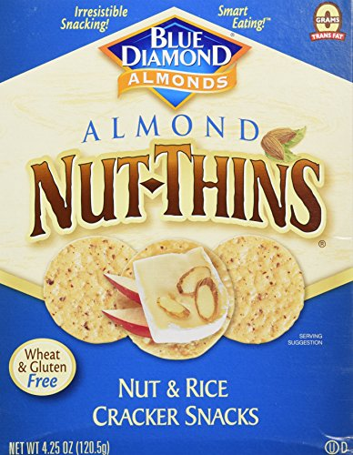 Blue Diamond Almond Nut-Thins, Nut And Rice Cracker -- 4.25