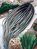Synthetic Crochet Dreads - Cream Blue, Ombre Set, Ombre Dreads, Synthetic dreads, de dreads, se dreads, Custom Dreadlocks Extensions