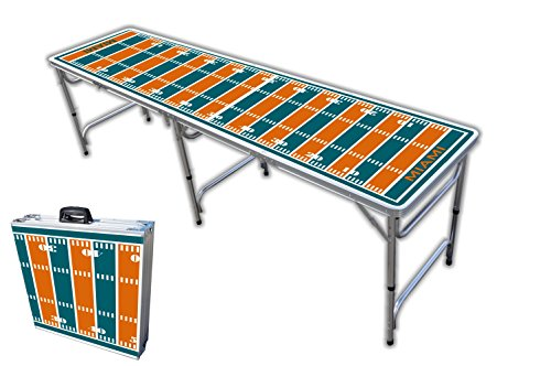 8-Foot Professional Beer Pong Table - Miami Football Field Graphic