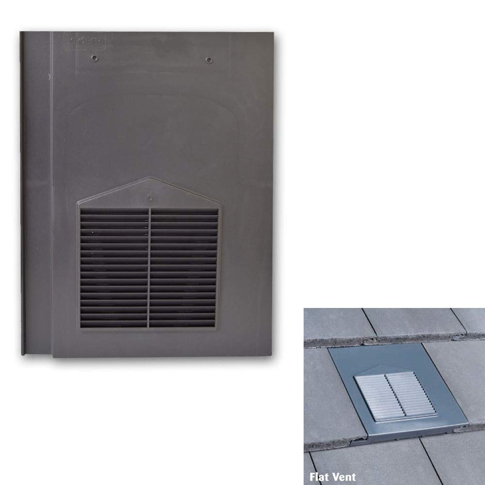 Flat Tile Vents for Sandtoft Calderdale Redland Mini Stonewold /& Marley Modern Tiles Grey Roof Tile Vent Russell Grampian