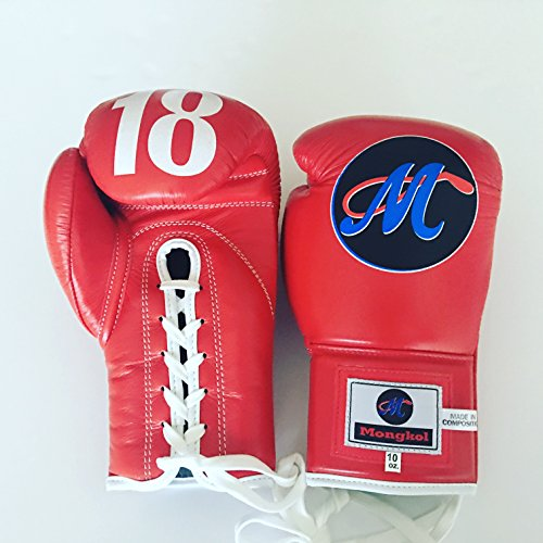 Mongkol Muaythai - Gloves Red M18 Lace by Mongkol Muaythai