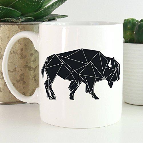 Buffalo Coffee Mug | Geometric Animal Coffee Mug | Animals Mug | Microwave and Dishwasher Safe by Foxy Mug
