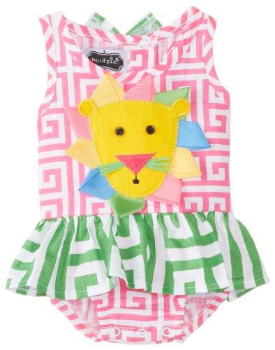 Mud Pie Baby-Girls Newborn Lion Swimsuit, Red, 9-12 Months (Baby Girl Swimsuit Mud Pie compare prices)