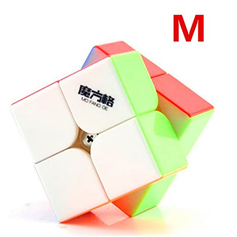 CuberSpeed Qiyi Wuxia 2x2 M stickerless Speed cube Mofangge wuxia 2x2x2  Magnetic speed cube