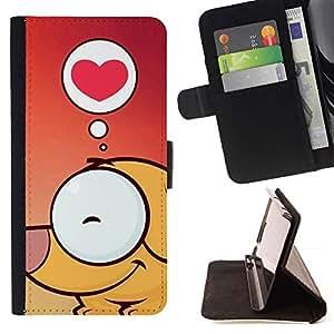 Momo Phone Case / Flip Funda de Cuero Case Cover - Amor lindo perro - HTC One Mini 2 M8 MINI