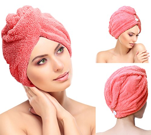 Sinland Hair Drying Towel Turban Ultra Absorbent & Fast Drying Microfiber Towel for Hair Bath Shower Head Wrap c