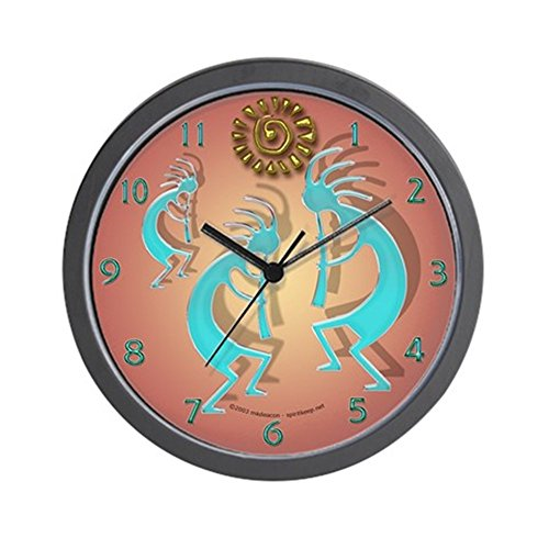 CafePress – Kokopelli W/ Sun – Unique Decorative 10″ Wall Clock