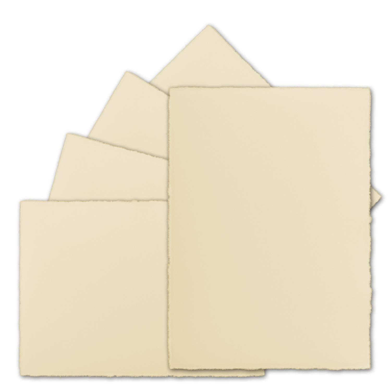 150 Stück DIN A5 A5 A5 Vintage Karten, echtes Bütten-Papier, 148 x 210 mm, Chamois-Elfenbein halbmatt - ohne Falz - Vellum Oberfläche - Original Zerkall-Bütten B07NQHCB4V | Toy Story  b090fb
