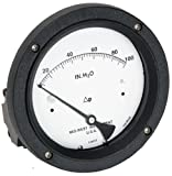 Mid-West 142-AC-00-OO-10P Differential Pressure Gauge with Aluminum Body and 316 Stainless Steel Internals, Diaphragm Type, 3/2/3% Full Scale Accuracy, 4-1/2'' Dial, 1/4'' FNPT Back Connection, 0-10 psid Range, 3000 psig SWP