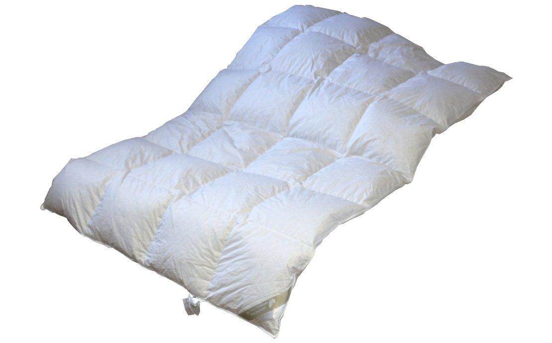 Betten Hofmann 8 cm Hochsteg Daunenbett Kassette 4x6 155x220 cm Winterbett extra warm Bettdecke