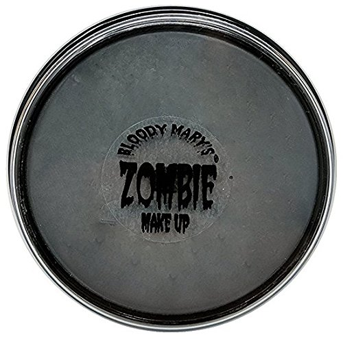 Horror Face Makeup (Gray Zombie Foundation Wheel For Theater, Costume, Halloween By Bloody)