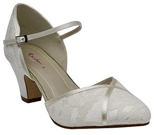 3546303153d Rainbow Club Shirley - Classic Floral Lace Court Shoes with Satin ...