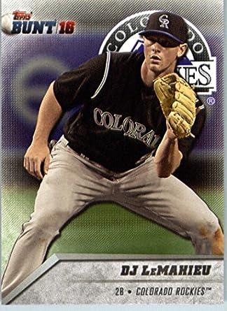 aa6f0d194f6 ... 2016 Topps Bunt 140 DJ LeMahieu Colorado Rockies Baseball Card-MINT ...