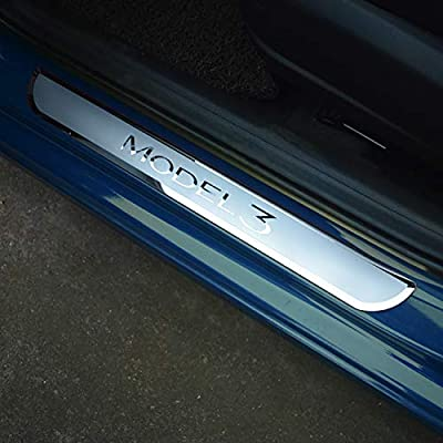Door Sill Sticker 2 Pieces Seven Sparta Door Sill Wrap for Model 3 Clear Door Sill Protector