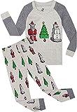Boys Christmas Pajamas Children Santa Claus PJs Gift Toddler 2 Pieces Pants Set Sleepwear Size 6 Years