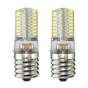 Amazon Lightning Deal 94% claimed: KINGSO 2PCS E17 Pure White 64 3014 SMD Appliance Silicone Crystal LED Lights Bulb Lamp 2.6W , Low power comsumption,UL Listed,110-120V