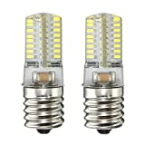 Appliances Refrigerators Best Deals - KINGSO E17 Microwave Appliance refrigerator LED light bulb, 4W intermediate freezer Silicone Crystal LED Lights,Low Power Consumption, 64 3014 SMD,110-120v, Pack of 2 Units Pure White