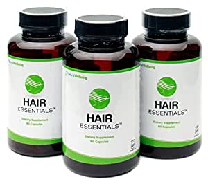 Hair Essentials Natural Herbs and Vitamins Hair Growth Supplement for Women and Men, 270 Count