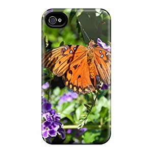 Tough Iphone EVbPOHo7673pbkME Case Cover/ Case For Iphone 4/4s(gulf Fritillary Nectaring)