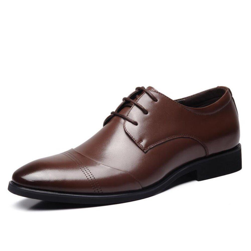 CAI Herren Formelle Schuhe 2018 Frühjahr/Sommer/Herbst Herren Lederschuhe Business/Spitze Laceup Dad Schuhe Arbeit/Party Schuhe (Farbe : Braun  Größe : 43) Braun
