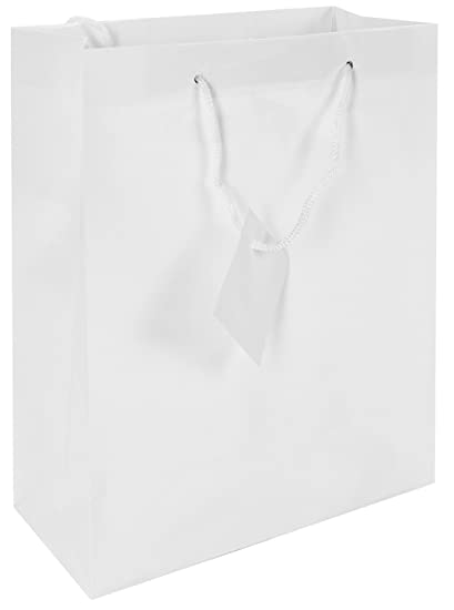 Amazoncom Fun Express Medium White Gift Bags Pack Of 12 Home