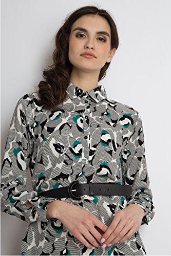 Finn Flare Blumenmuster Black Damen Kleid mit Abstraktem AAprwd