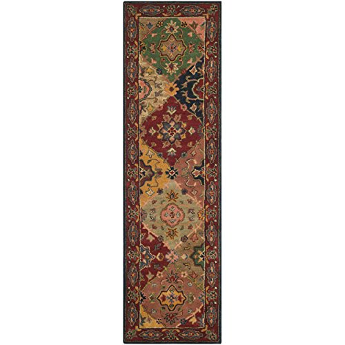 llection HG926A Handcrafted Traditional Oriental Red and Multi Wool Runner (2'3