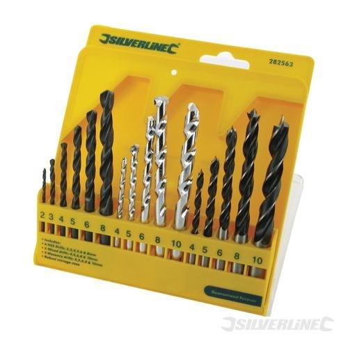 Silverline Combi Drill Bit Set 16pce 4-10mm