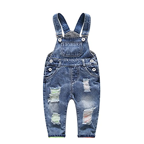 Baby Girl Overalls (OAYAO Baby & Little Boys/Girls Ripped Jeans Overalls (Label 80CM(6-12Months)))