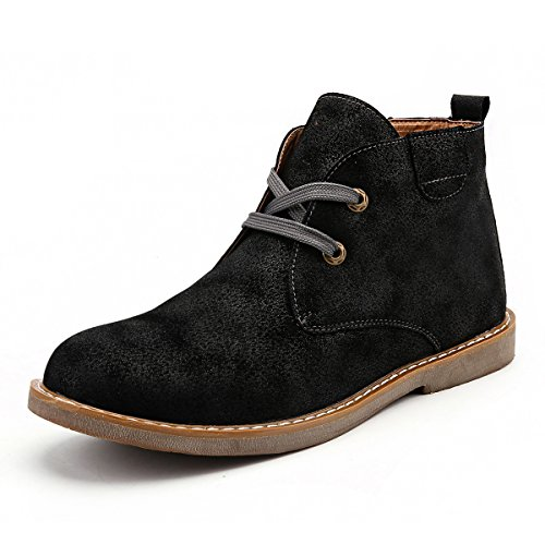 Gracosy Desert Boot for Men, Winter Chukka Boot Lace Up Ankle Boots Fashion Casual Shoes Black 10.5 D(M) - Boots Winter Casual