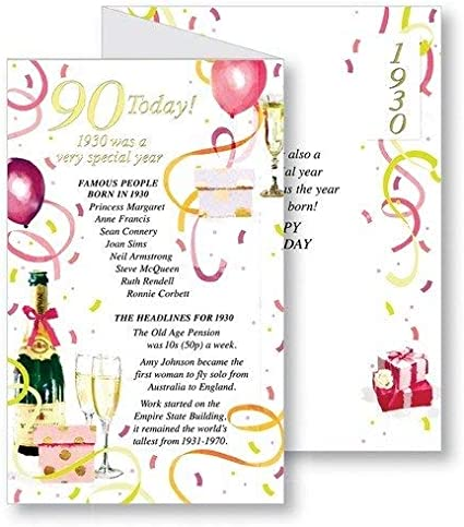 Outstanding Simon Elvin 2020 90Th Female Birthday Card 1930 Was A Special Personalised Birthday Cards Paralily Jamesorg