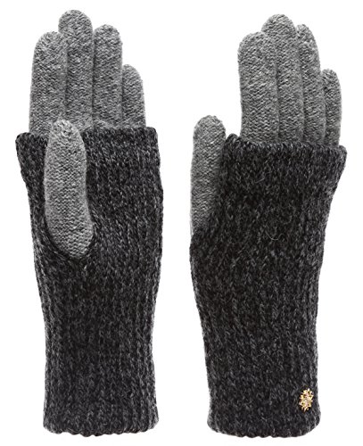MIRMARU Womens Winter Wool Blend Double Layer Knitted Warm Gloves
