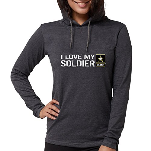 CafePress - U.S. Army: I Love My Soldier - Womens Hooded Shirt Heather Grey