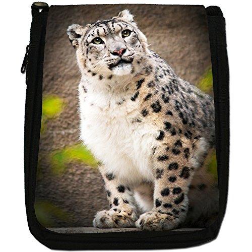 Snow Wild Of Medium Black Cat Bag Canvas A Size Leopard Shoulder Portrait 4Rqwr4