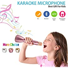 Wireless Microphone Karaoke, Portable Karaoke Player with Bluetooth Speaker for Home KTV Singing Support IOS Apple Iphone Ipad Android Smartphone PC