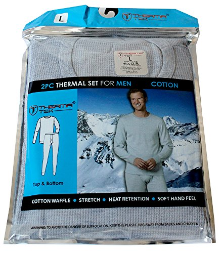 therma-tek-formerly-comfort-fit-winter-mens-thermal-100-cotton-top-bottom-2-pcs-set-light-gray