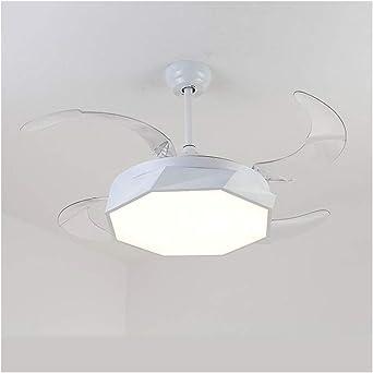 Ventilador negro moderno de 42 pulgadas luz de techo retráctil de ...