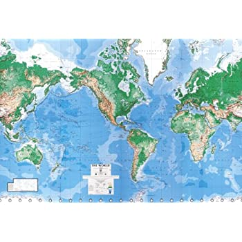 Environmental Graphics Giant World Map Wall Mural   Dry Erase Surface