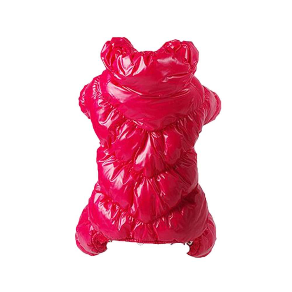 ANHPI-Pets coat Chaqueta del Perro Caliente Perro Ropa Ropa para Mascotas Chaqueta Abrigo De Invierno Cómodo Al Aire Libre,Red-M