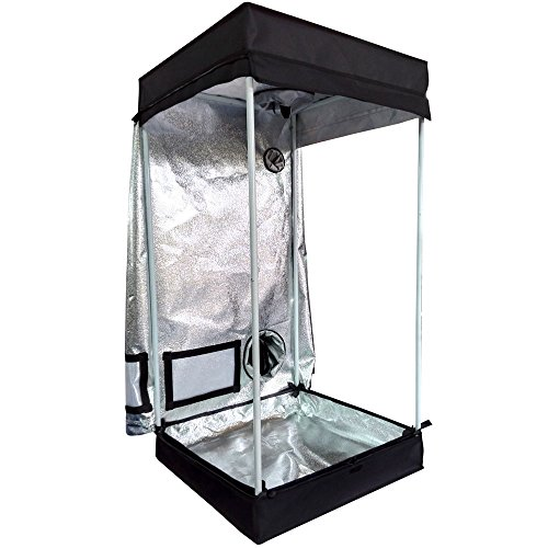 Oshion 24''x 24''x 48'' Indoor Mylar Hydroponics Grow Tent Room by Oshion (Image #1)