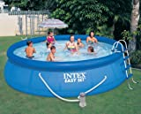 "Intex 15 x 42"" Easy Set Pool Complete Kit w/ 1000 GPH Filter Pump & Skooba Vac"